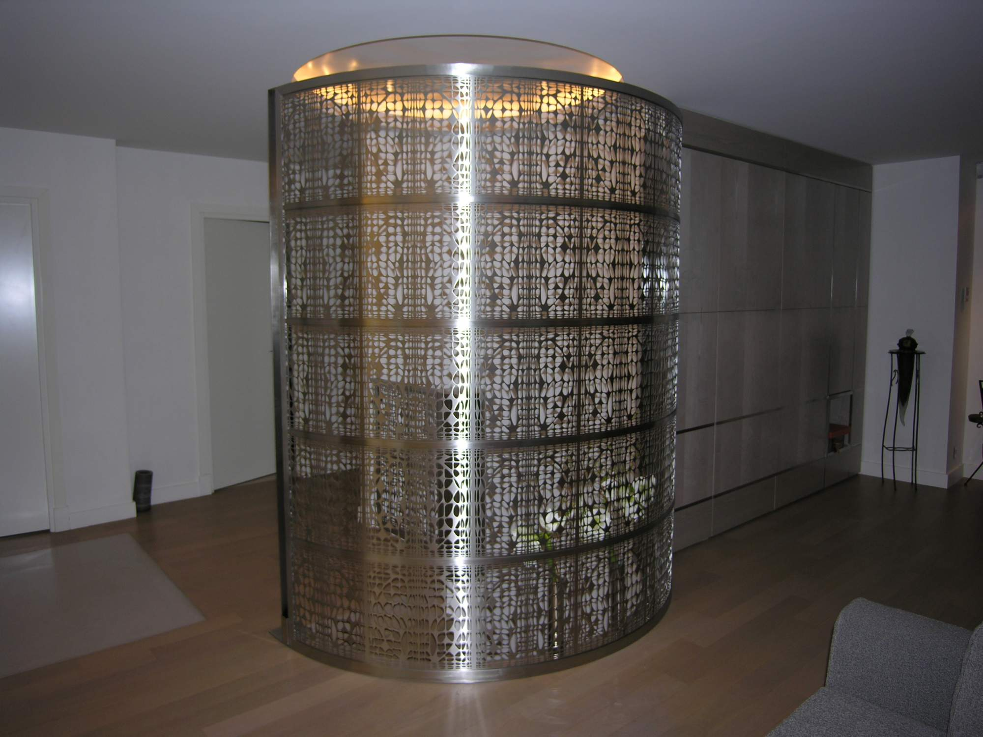 cage d'escalier sur-mesure dans un appartement privé